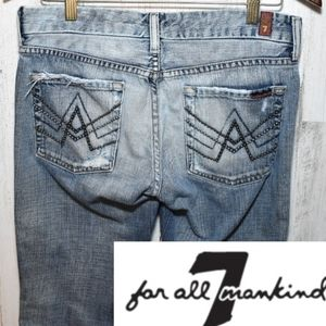 7 For All Mankind Studded bootcut jeans